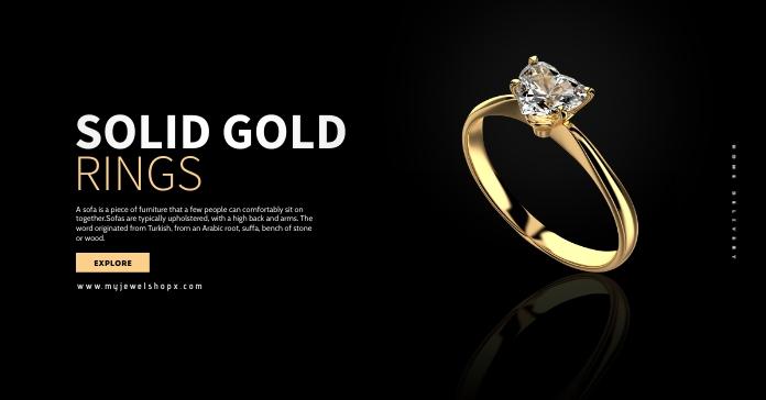 Gold Ring Sale Ad Iklan Facebook template