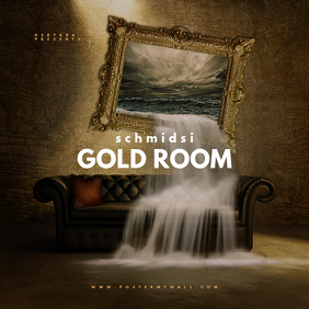 Gold Room Mixtape CD Cover Template