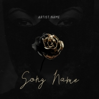 Gold Rose / Mixtape Cover Design Template Pochette d'album