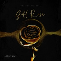 Gold Rose - Music Album Cover Template