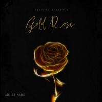 Gold Rose - Music Album Cover Template