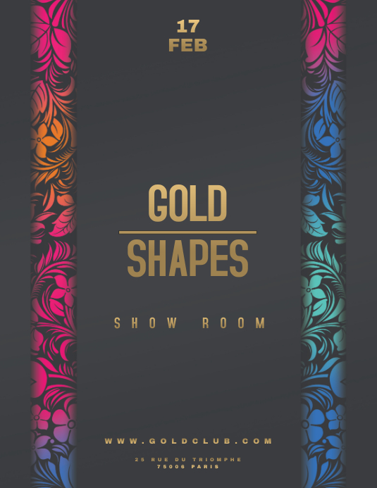 GOLD SHAPES Flyer Templates