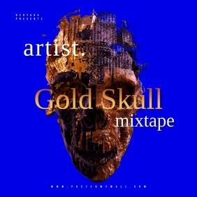 Gold Skull Mixtape CD Cover Template