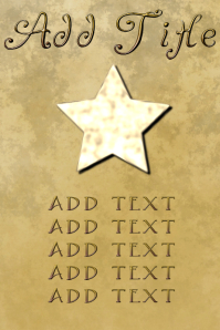 gold star and golden letters