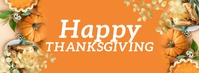 Gold Thanksgiving Fall Facebook Banner template