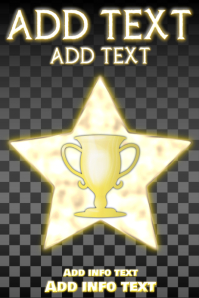 gold trophy and star on dark squares