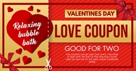 Gold Valentine's Day Coupon Facebook Post Tem template