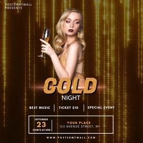 Gold Vip Gala NIght Video design template