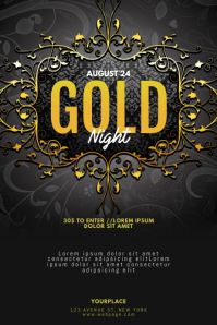 Gold Vip Glam Luxury event flyer template