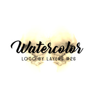 Gold Watercolor Abstract Logo 26 template