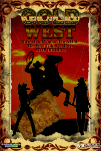 Gold West Poster template