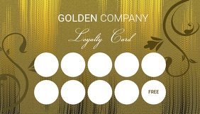 Golded Loyalty Card Template