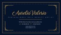 Golden and white business card design templat Visitekaartje template