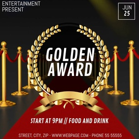 Golden award video flyer template