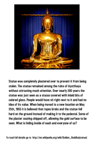 Golden Buddha Lesson