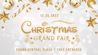 Golden Christmas Fair Event Facebook Cover