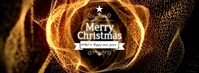 Golden Christmas Greetings Facebook Cover Photo template