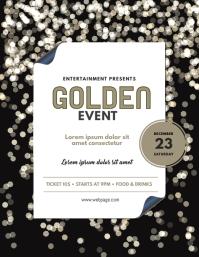 Golden Event Flyer Design Template