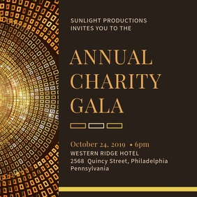 Golden Gala Event Party Invitation Square (1:1) template