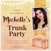 Golden Girl's Trunk Party Invite Instagram Po template