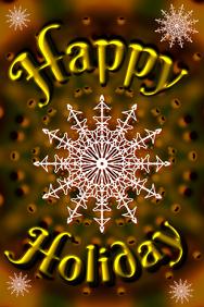 golden happy holiday dark