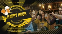 Golden Happy Hour Bar Digital Display Video Template