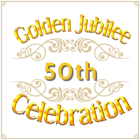 Golden Jubilee Instagram Template