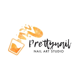 Golden Nail Polish Logo template