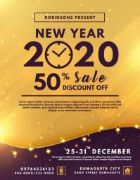Golden New Year's Eve Retail Flyer