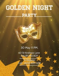 GOLDEN NIGHT PARTY Flyer Video template