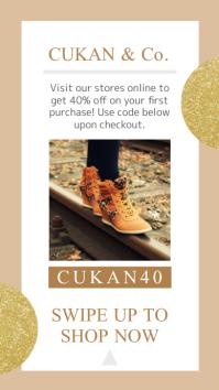 Golden Retail Sale Instagram Story
