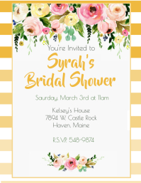 Golden Rod Ombre Bridal Shower