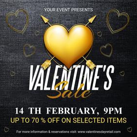 Golden Valentine's Story Sale Instagram Ad