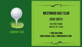 Golf Business Card Cartão de visita template