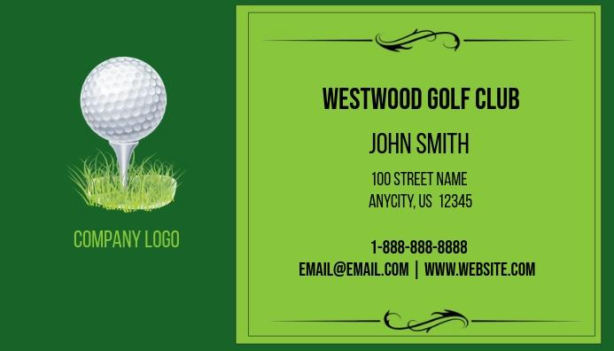Golf business card template postermywall golf business card colourmoves