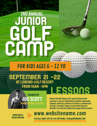 Golf Camp Flyer template