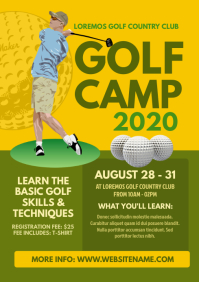 Golf Camp Flyer A4 template