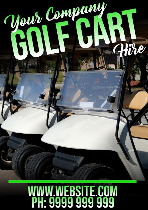 Golf Cart Hire A5 template