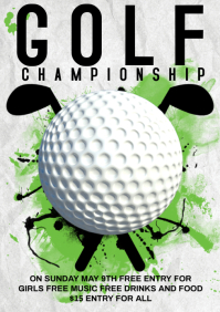 Golf Championship A4 template