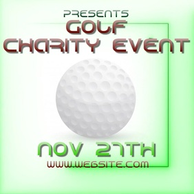 GOLF CHARITY EVENT ad video digital Logo template