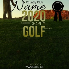 GOLF CHARITY EVENT TEMPLATE Square (1:1)