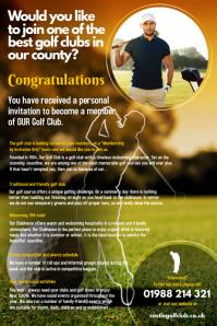 Golf Club Leaflet