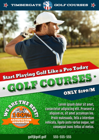 GOLF COURSES POSTER