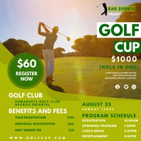 golf cup flyer template Pos Instagram