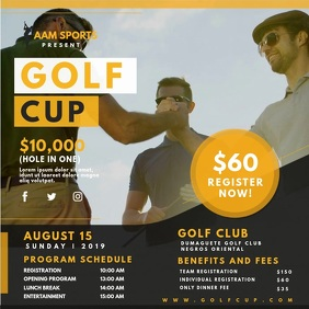 Golf Cup Registration Video Ad 方形(1:1) template