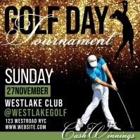 golf day ad invite social media graphics Pos Instagram template