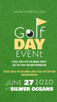 GOLF DAY EVENT ad social media template Instagram Story