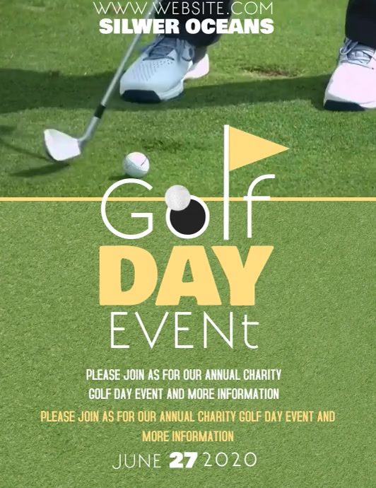 GOLF DAY EVENT FLYER TEMPLATE Løbeseddel (US Letter)