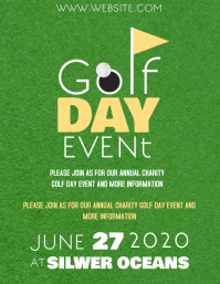 GOLF DAY EVENT FLYER TEMPLATE