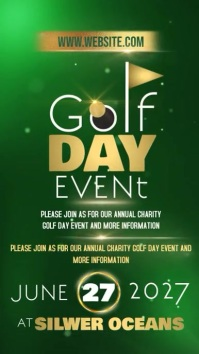 GOLF DAY POSTER TEMPLATE Instagram Story